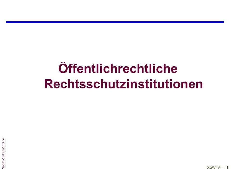 Öffentlichrechtliche Rechtsschutzinstitutionen
