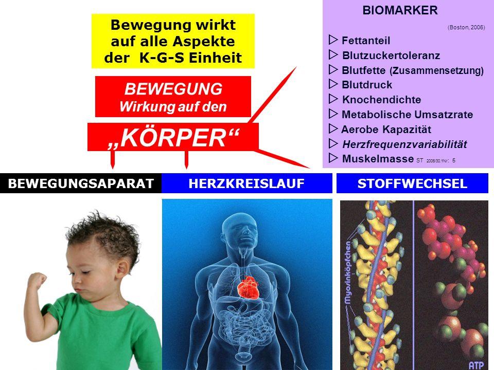 """""""KÖRPER BEWEGUNG Wirkung auf den"""