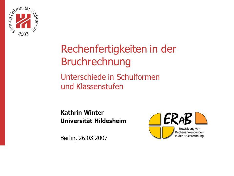 Kathrin Winter Universität Hildesheim Berlin, 26.03.2007