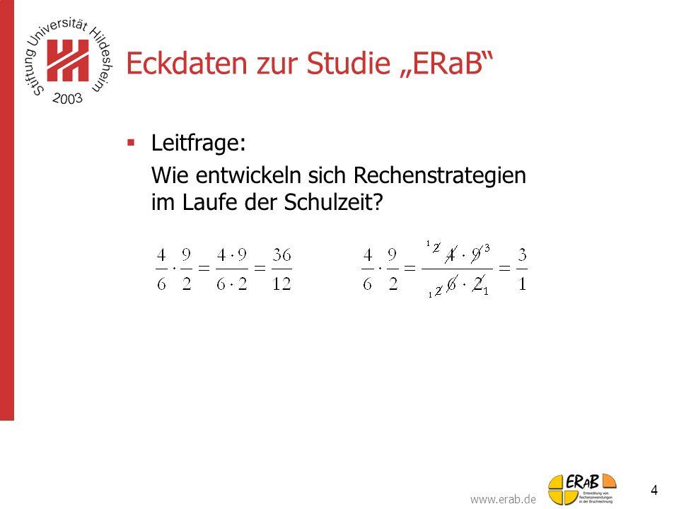 """Eckdaten zur Studie """"ERaB"""