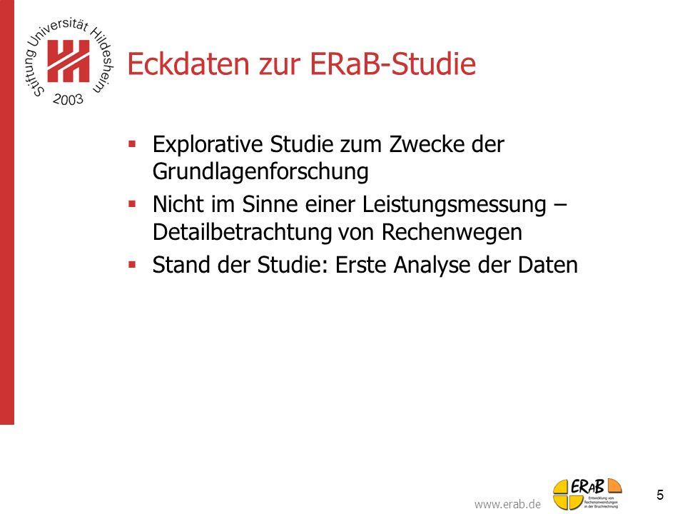 Eckdaten zur ERaB-Studie