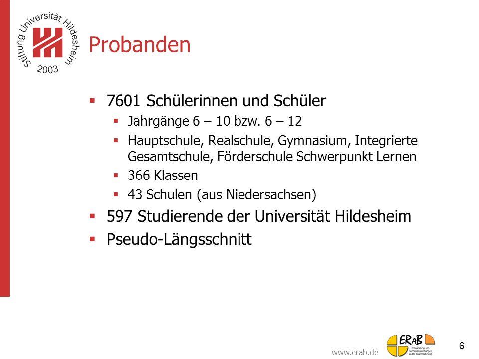 Probanden 7601 Schülerinnen und Schüler