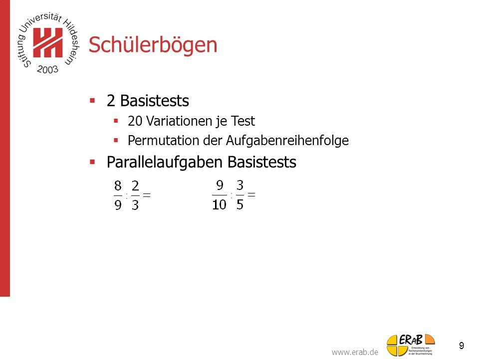 Schülerbögen 2 Basistests Parallelaufgaben Basistests