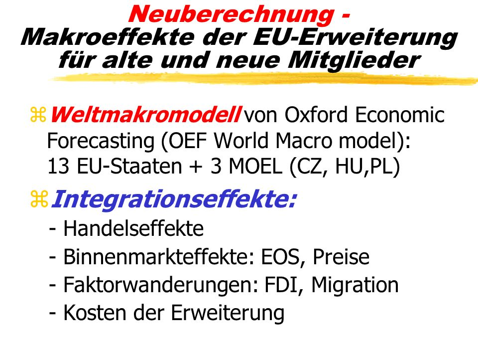 Integrationseffekte: