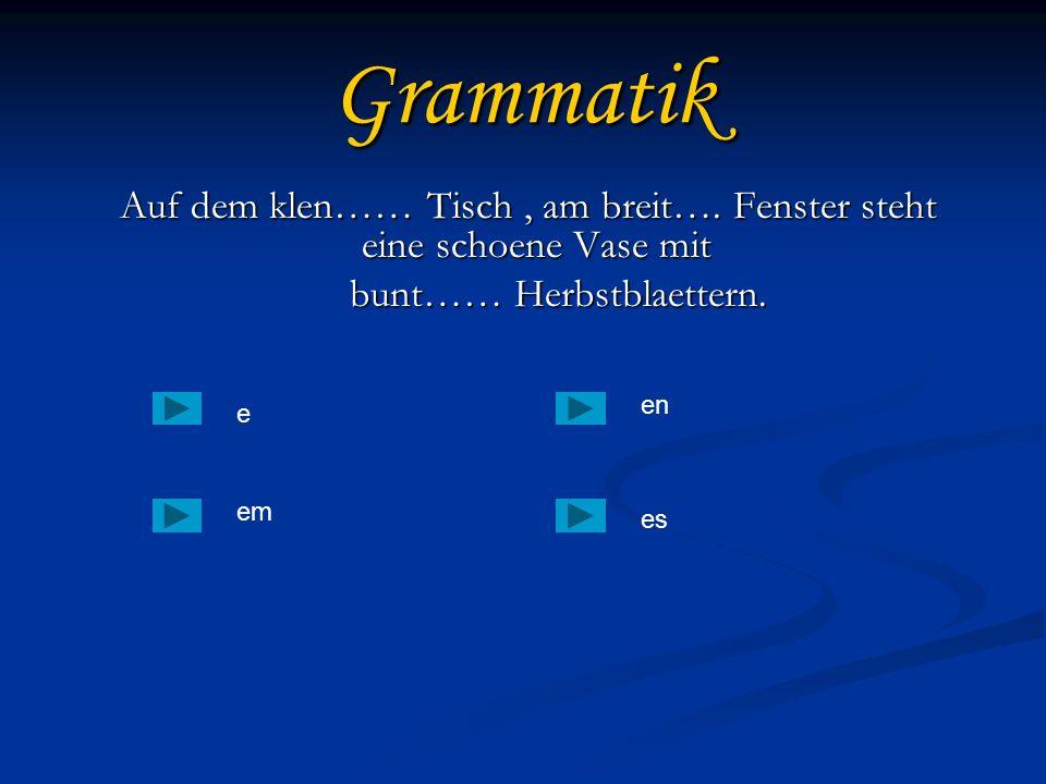 Grammatik bunt…… Herbstblaettern.