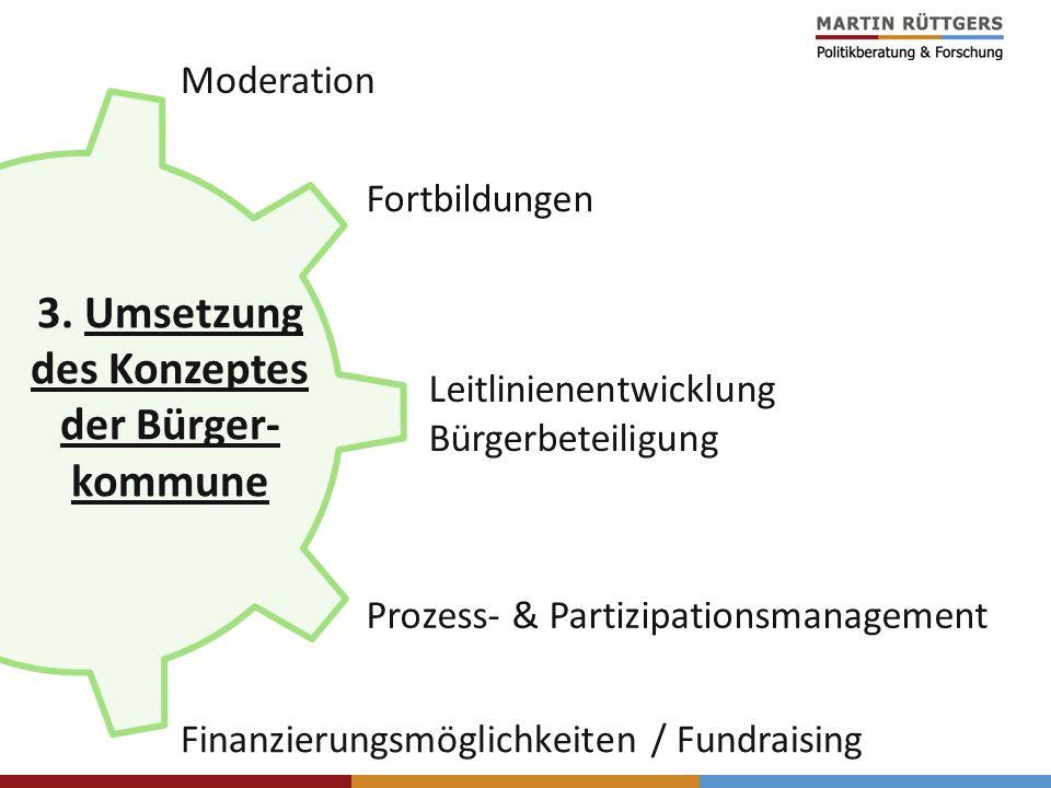 3. Umsetzung des Konzeptes der Bürger-kommune