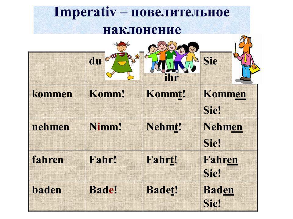 Imperativ – повелительное наклонение