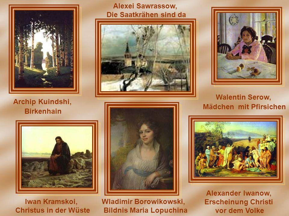 Mädchen mit Pfirsichen Wladimir Borowikowski, Bildnis Maria Lopuchina
