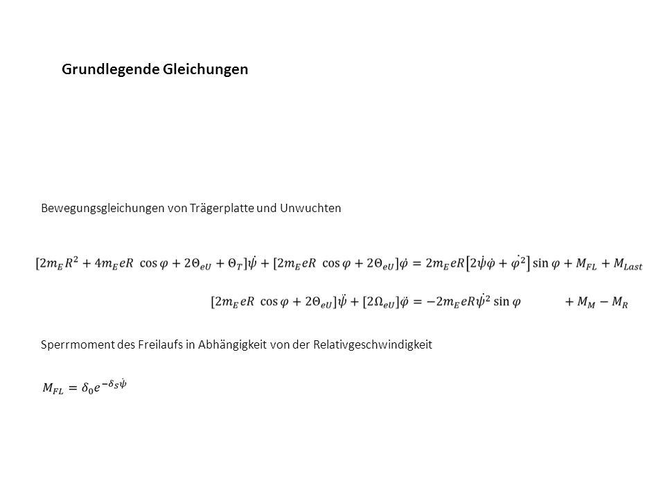 Grundlegende Gleichungen