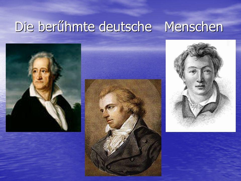 Die berűhmte deutsche Menschen