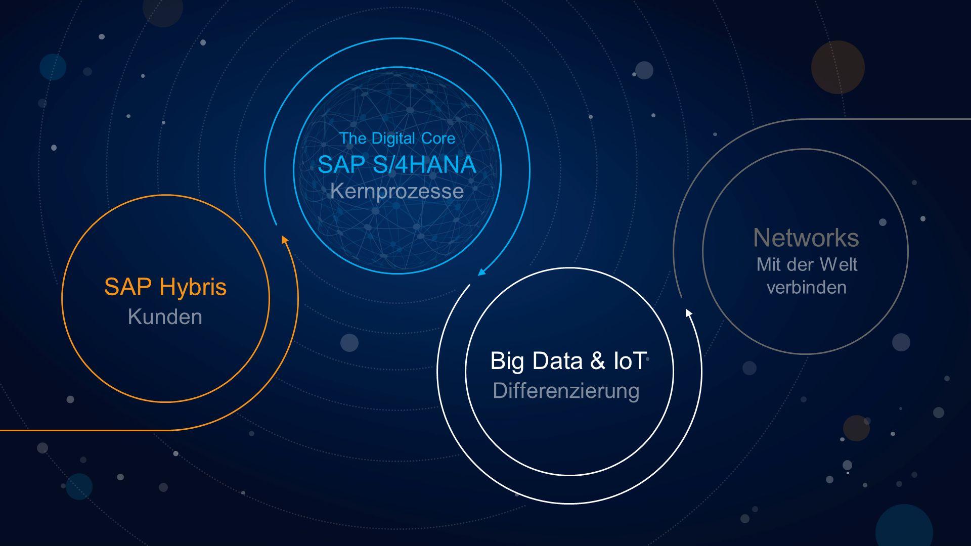Networks SAP S/4HANA SAP Hybris Big Data & IoT Kernprozesse Kunden