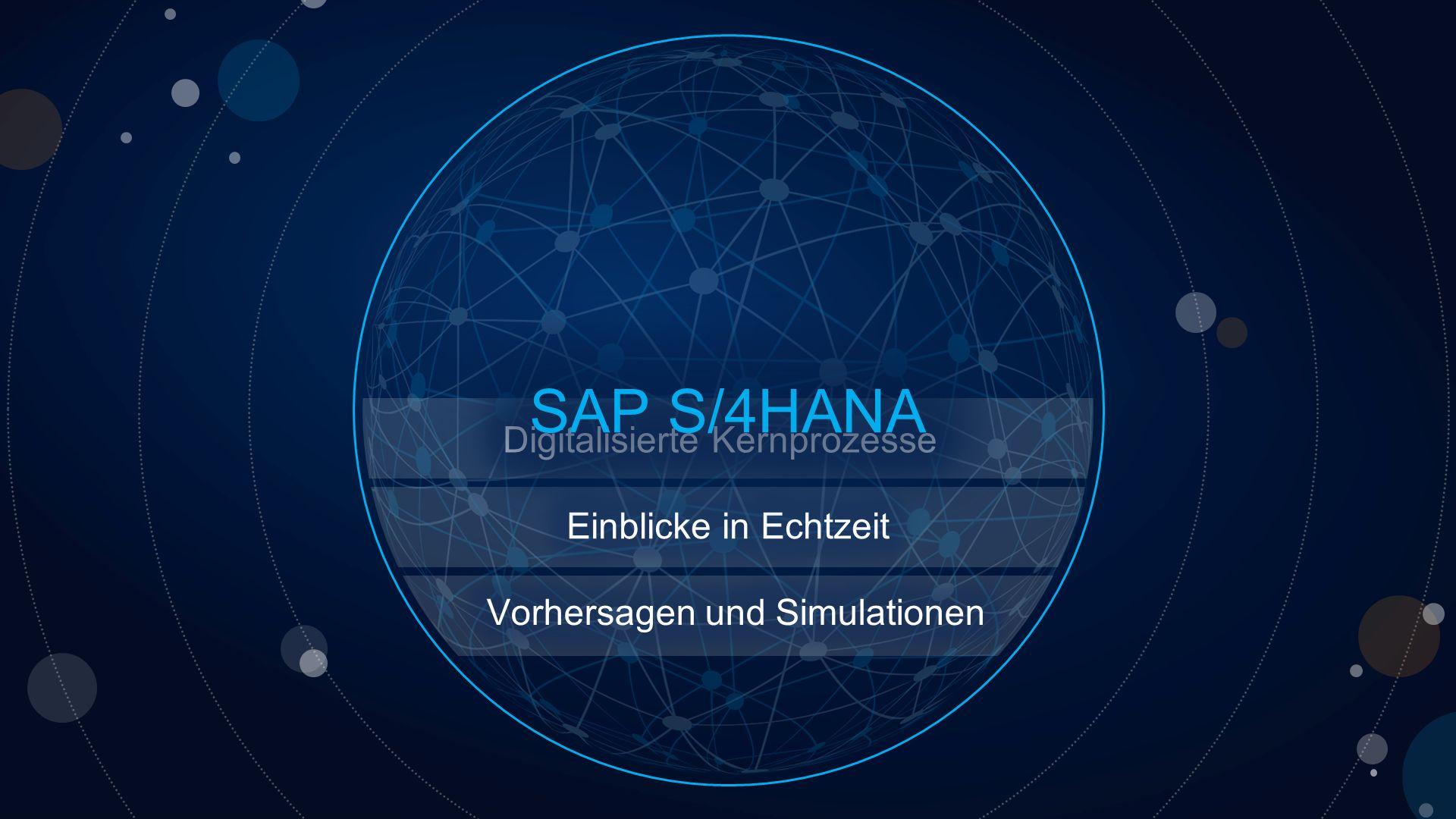 SAP S/4HANA Digitalisierte Kernprozesse Einblicke in Echtzeit