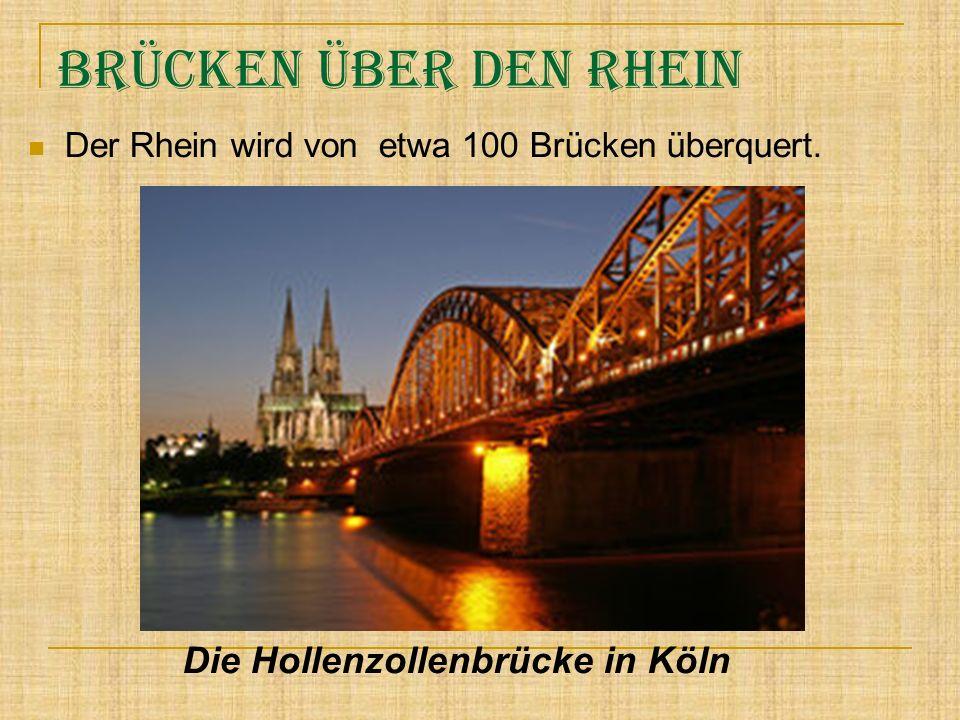 Brücken über den Rhein Die Hollenzollenbrücke in Köln