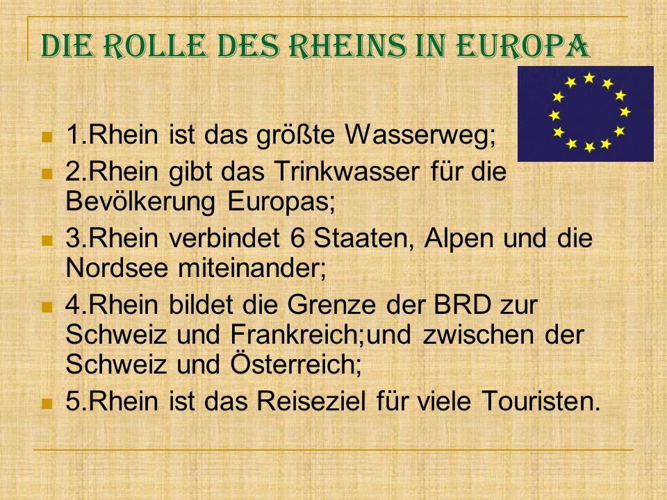 Die Rolle des Rheins in Europa