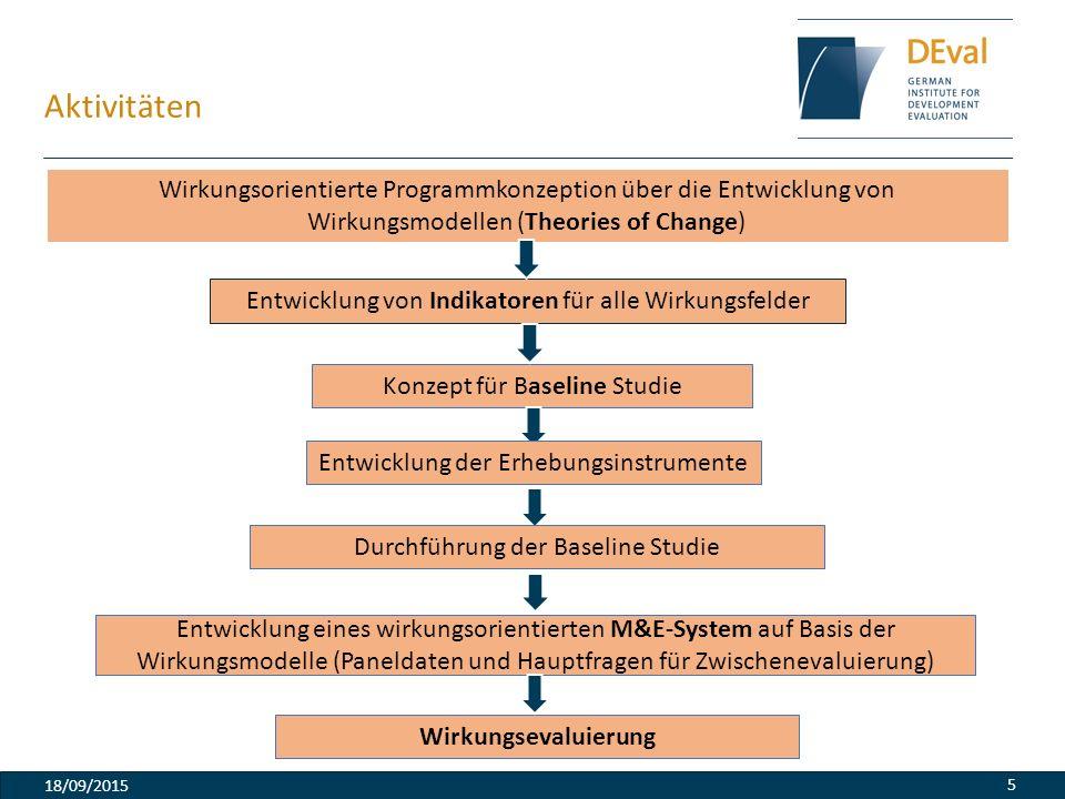 Aktivitäten Wirkungsorientierte Programmkonzeption über die Entwicklung von Wirkungsmodellen (Theories of Change)