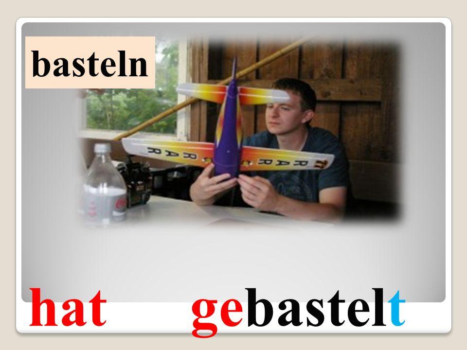 basteln hat gebastelt