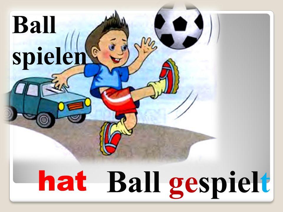 Ball spielen Ball gespielt hat