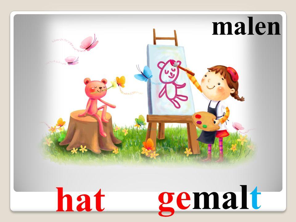 malen gemalt hat