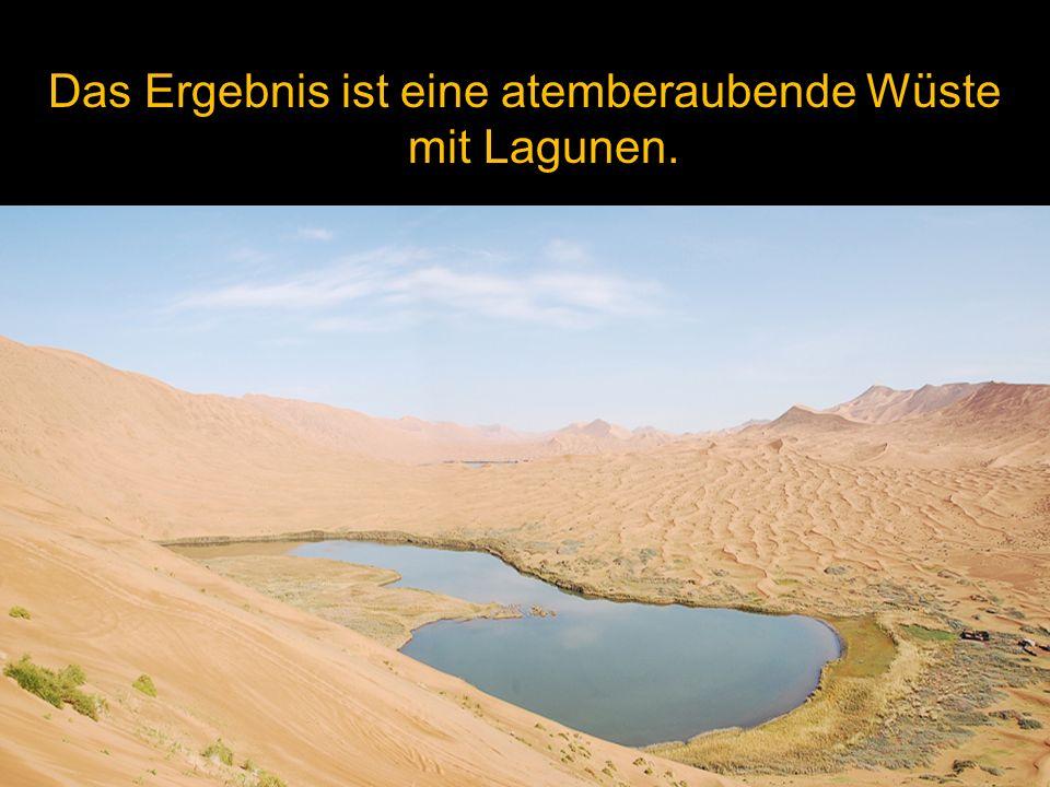 Das Ergebnis ist eine atemberaubende Wüste mit Lagunen.