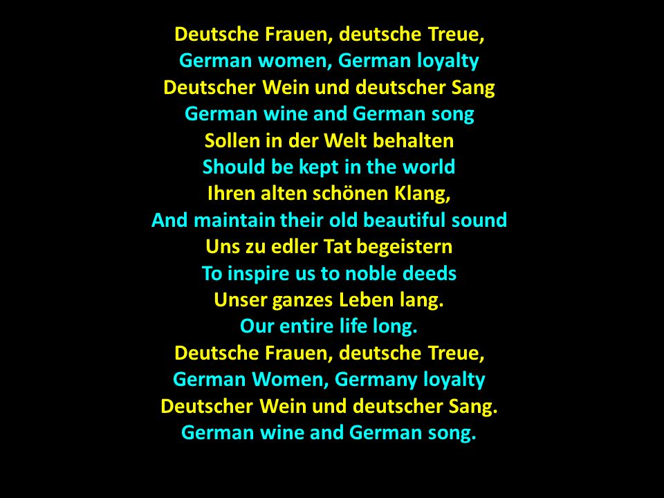 Deutsche Frauen, deutsche Treue, German women, German loyalty