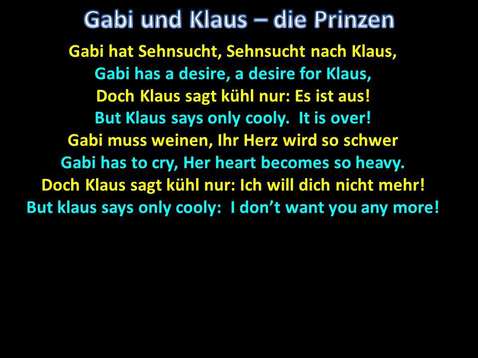 Gabi und Klaus – die Prinzen