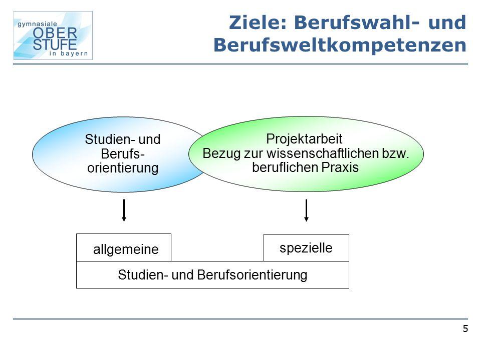 Ziele: Berufswahl- und Berufsweltkompetenzen