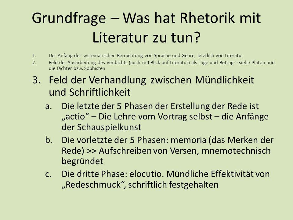 Grundfrage – Was hat Rhetorik mit Literatur zu tun