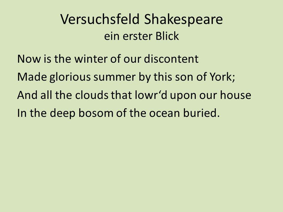 Versuchsfeld Shakespeare ein erster Blick