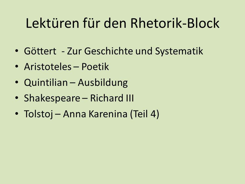 Lektüren für den Rhetorik-Block