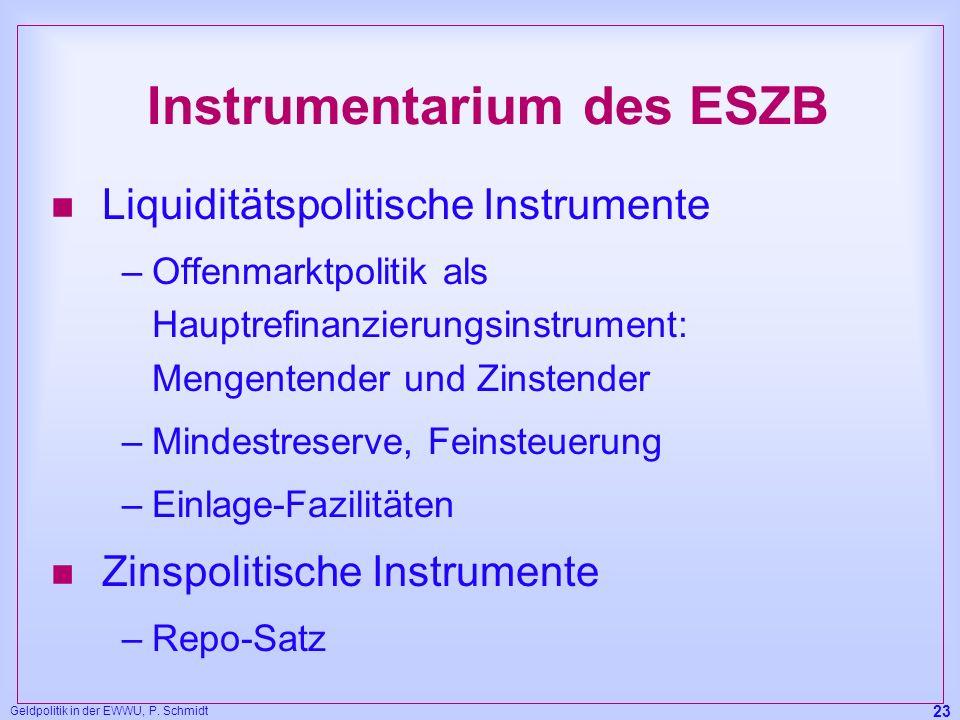Instrumentarium des ESZB