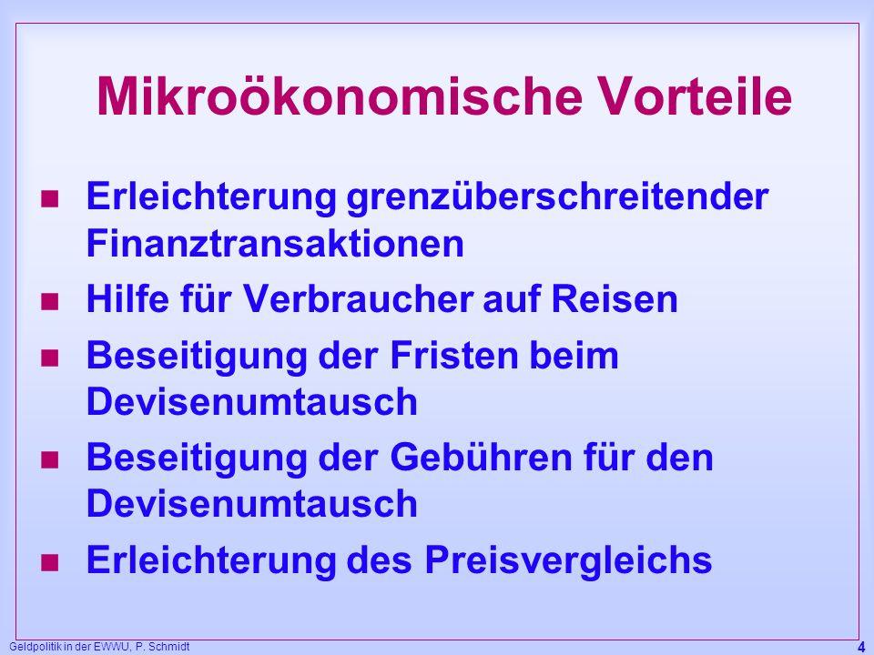 Mikroökonomische Vorteile