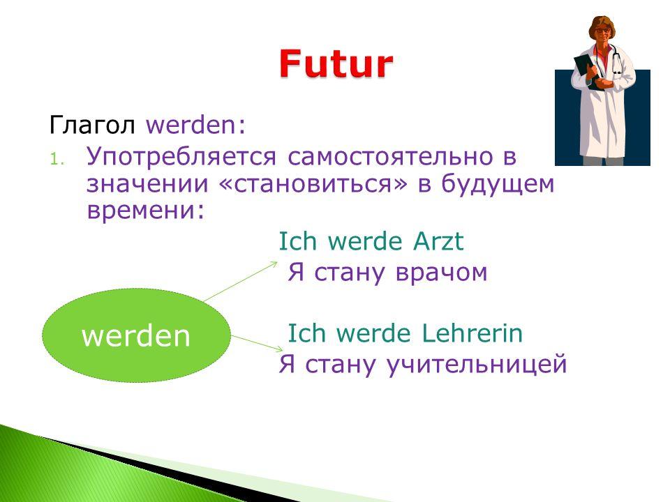 Futur werden Глагол werden: