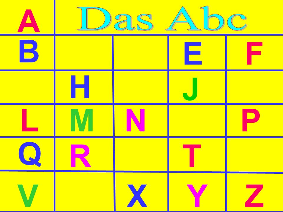 A Das Abc B E F H J L M N P Q R T V X Y Z