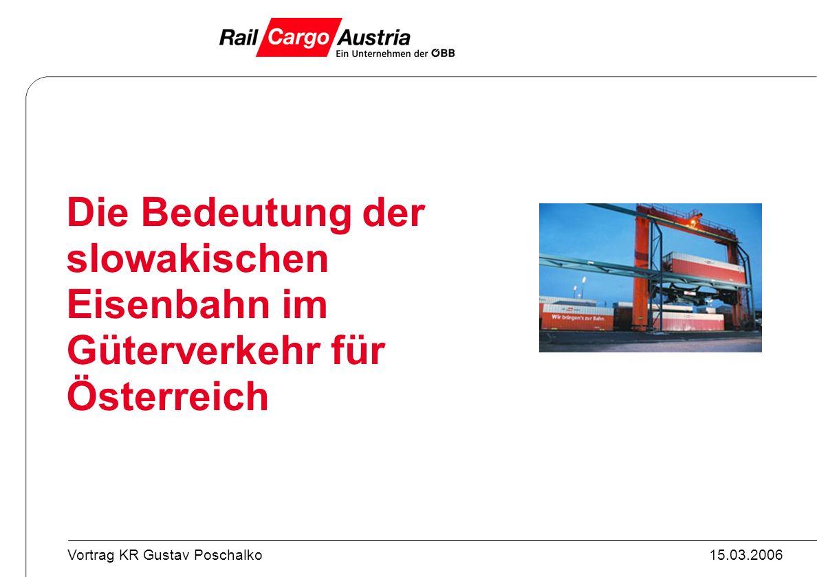 28.03.2017 Die Bedeutung der slowakischen Eisenbahn im Güterverkehr für Österreich
