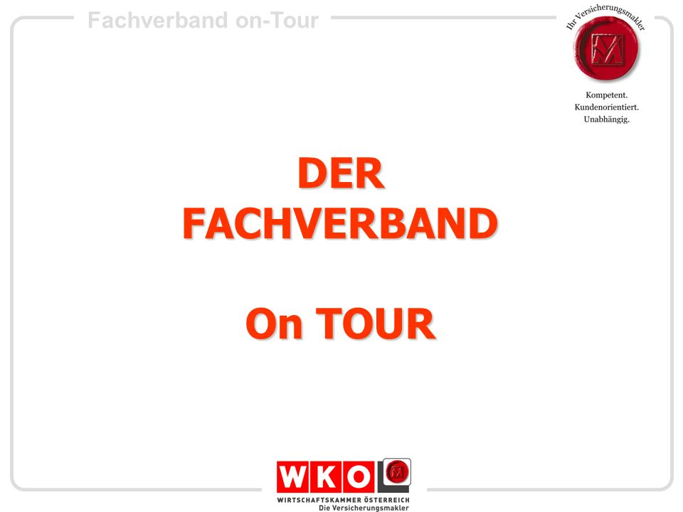 DER FACHVERBAND On TOUR