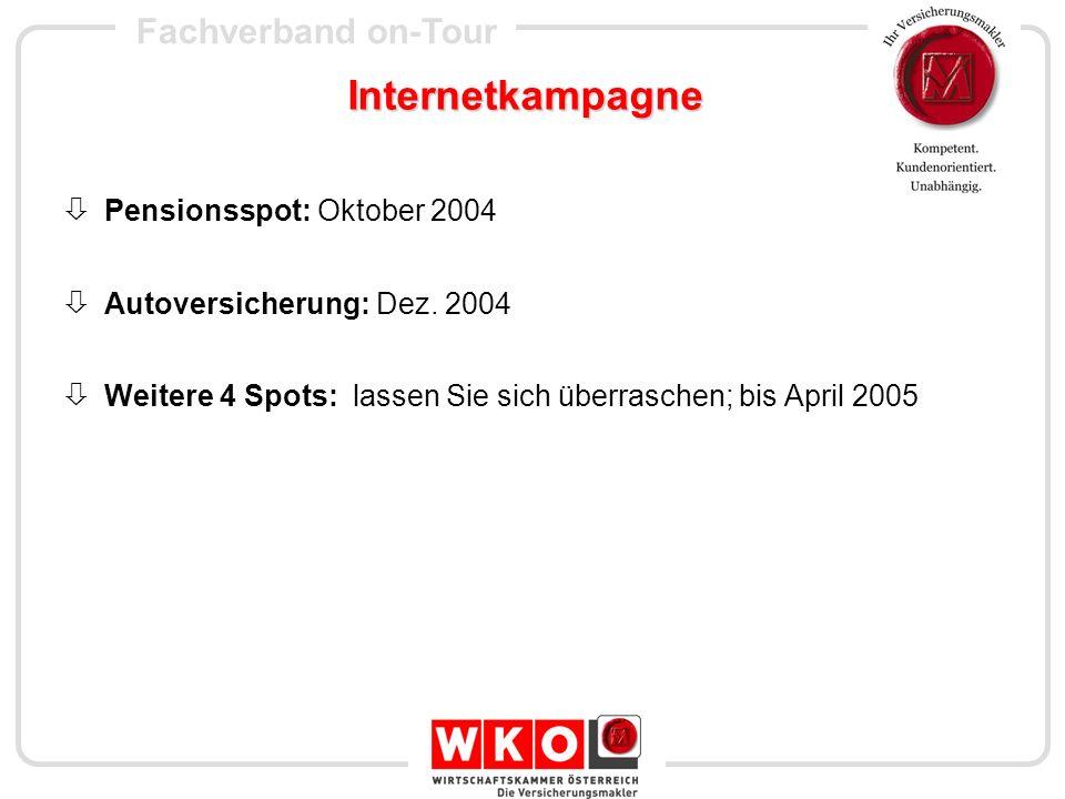 Internetkampagne Pensionsspot: Oktober 2004