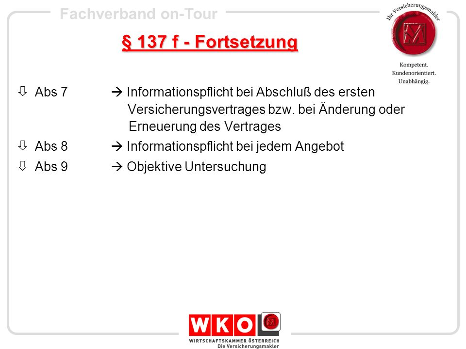 § 137 f - Fortsetzung
