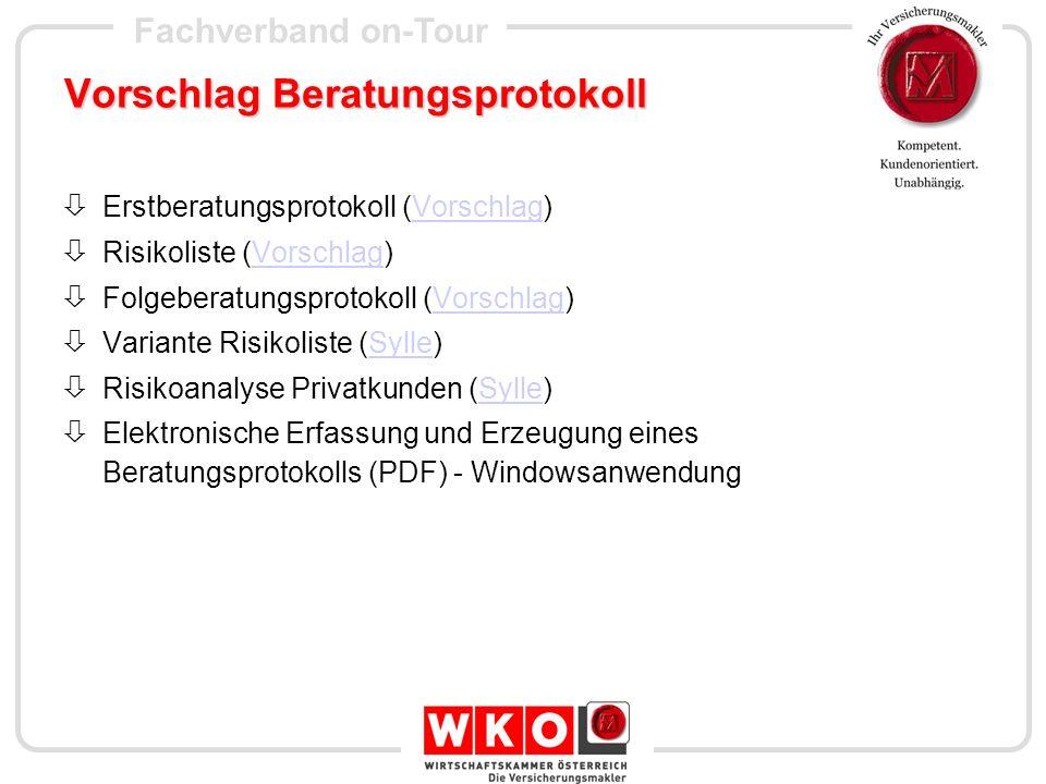 Vorschlag Beratungsprotokoll
