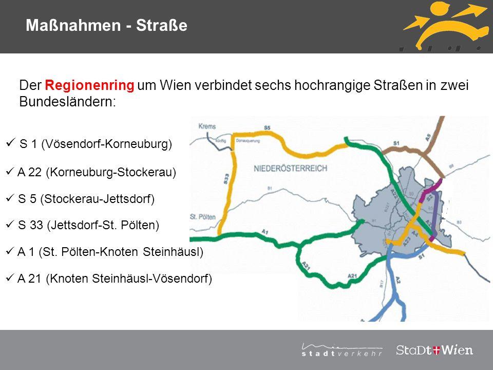 Maßnahmen - Straße Der Regionenring um Wien verbindet sechs hochrangige Straßen in zwei Bundesländern: