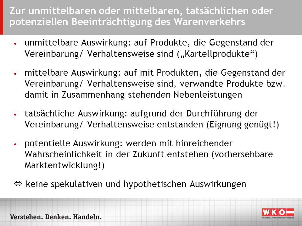 ARS - 07.09.2004 Zur unmittelbaren oder mittelbaren, tatsächlichen oder potenziellen Beeinträchtigung des Warenverkehrs.