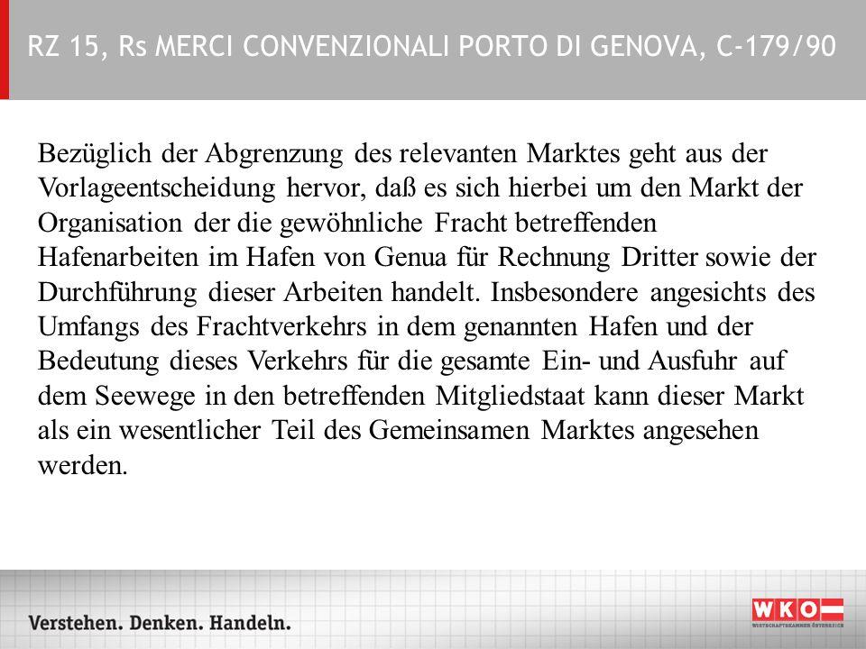 RZ 15, Rs MERCI CONVENZIONALI PORTO DI GENOVA, C-179/90