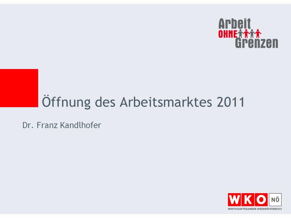 Öffnung des Arbeitsmarktes 2011