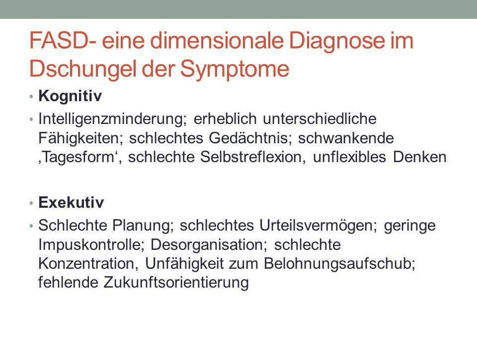 FASD- eine dimensionale Diagnose im Dschungel der Symptome