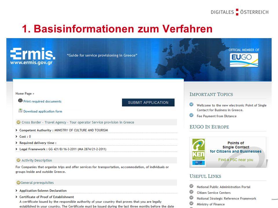 1. Basisinformationen zum Verfahren
