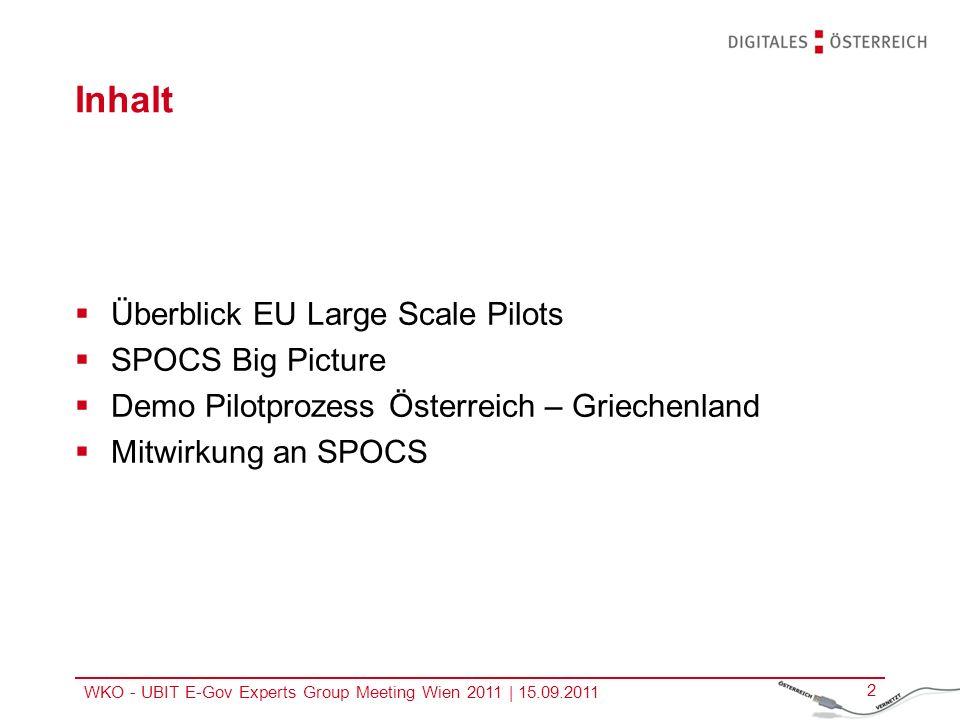 Inhalt Überblick EU Large Scale Pilots SPOCS Big Picture