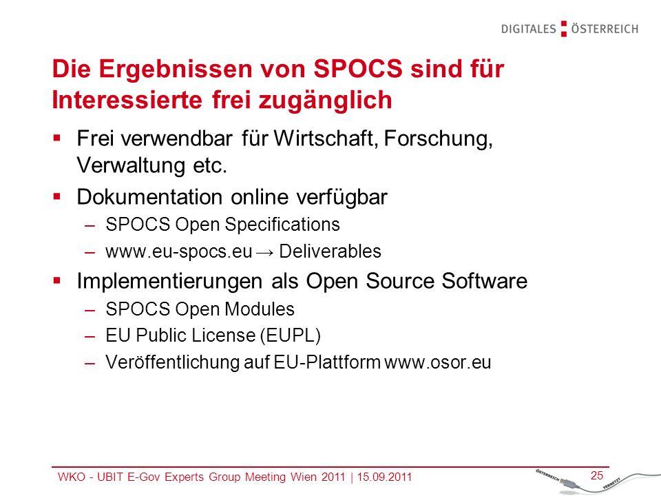 Die Ergebnissen von SPOCS sind für Interessierte frei zugänglich