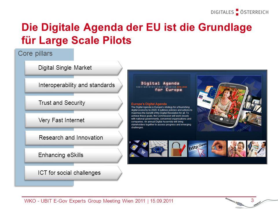 Die Digitale Agenda der EU ist die Grundlage für Large Scale Pilots