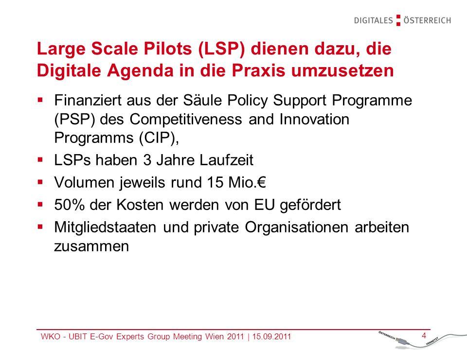EU-Großpilotprojekte – STORK und SPOCS