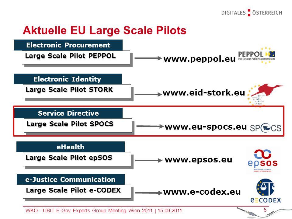 Aktuelle EU Large Scale Pilots