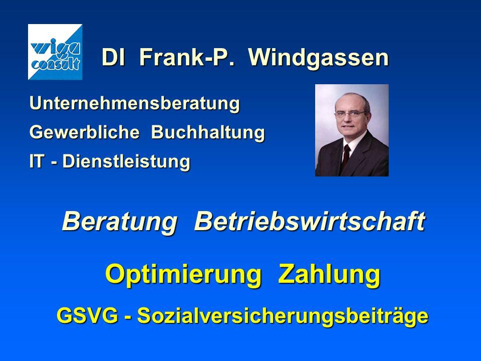 Beratung Betriebswirtschaft GSVG - Sozialversicherungsbeiträge